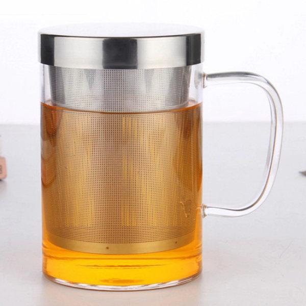 tisaniere 500ml verre inox couvercle